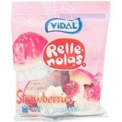 Żelki strawberries with cream