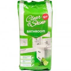 Clear&shine nawilżane chusteczki do łazienki
