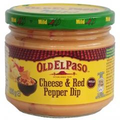Łagodny dip ser i czerwona papryka