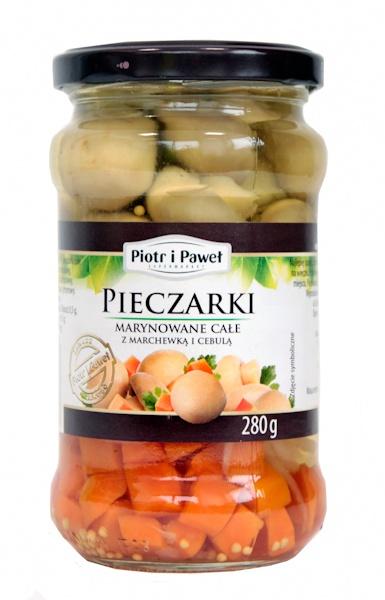 Pieczarki marynowane całe z marchewką Piotr i Paweł