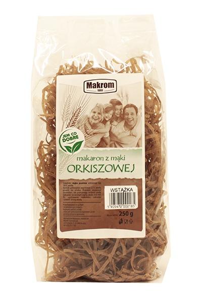 Makaron z mąki orkiszowej wstążka