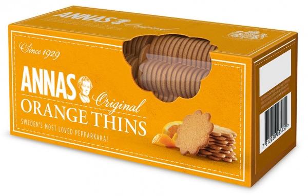 Ciasteczka Anna's korzenne o smaku pomarańczowym