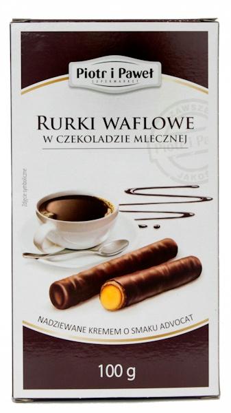 Rurki waflowe w czekoladzie Piotr i Paweł advocat