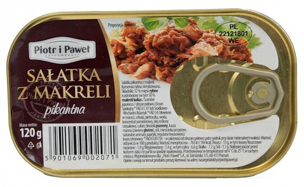 Sałatka pikantna z makreli Piotr i Paweł