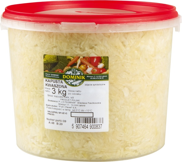 Kapusta kiszona (3kg)-polska Dominik