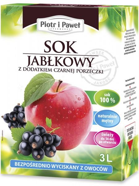 Sok jabłko-czarna porzeczka naturalny Piotr i Paweł