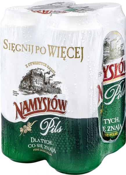 Piwo Namysłów pils puszka 4x0,568l
