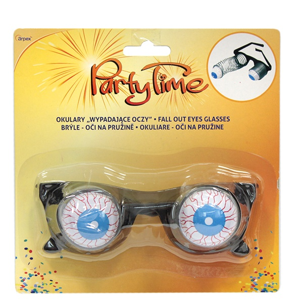 Akcesoria halloween okulary wypadające oczy