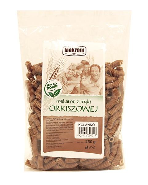 Makaron z mąki orkiszowej kolanko