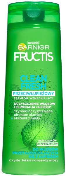 Szampon fructis stay fresh przeciłupieżowy. clame de la mer