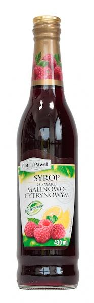 Syrop malinowo-cytrynowy Piotr i Paweł