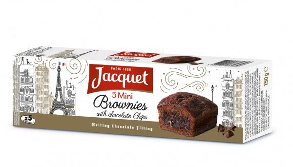 Mini brownie z kawałkami czekolady x5