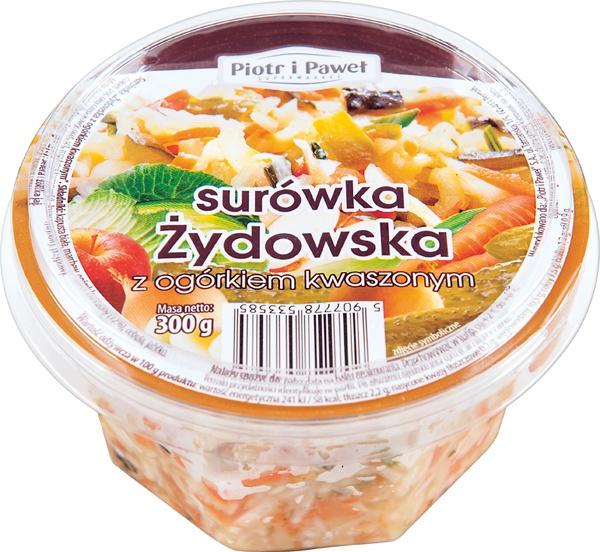 Surówka Piotr i Paweł Żydowska z ogórkiem kwaszonym