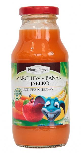Sok Piotr i Paweł marchew banan jabłko