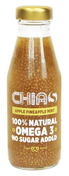 Napój chias/jabłko ananas mięta z nasionami chia