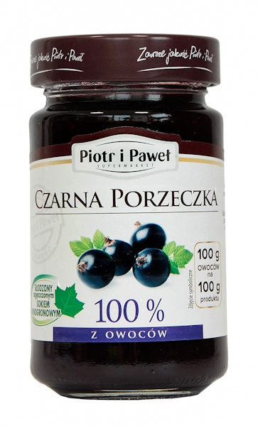 100% z czarnych porzeczek produkt owocowy słodzony zag.sokiem winogronowym