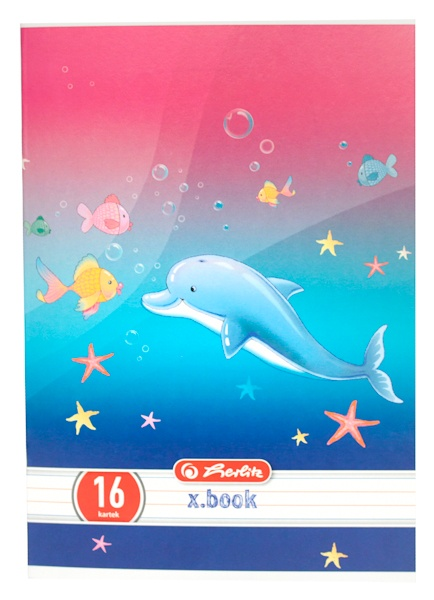 Zeszyt Leonie Leo & Friends A5, 16 kartek, linia podwójna