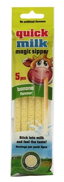Słomka smakowa do mleka o smaku bananowym 5*6g