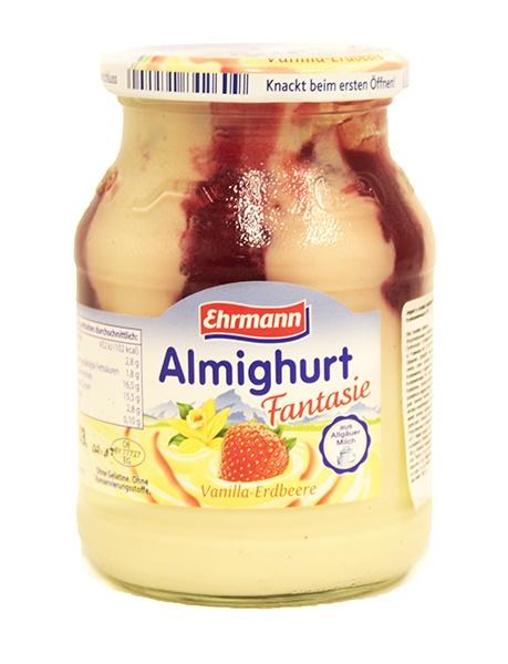 Jogurt Ehrmann wanilia-truskawka,wanilia-malina