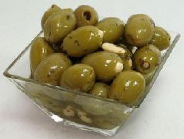 Oliwki zielone z migdałami