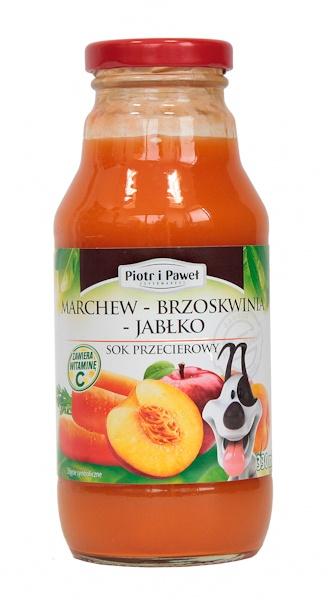 Sok Piotr i Paweł marchew brzoskwinia jabłko
