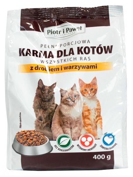 Karma sucha dla kota z drobiem i warzywami Piotr i Paweł