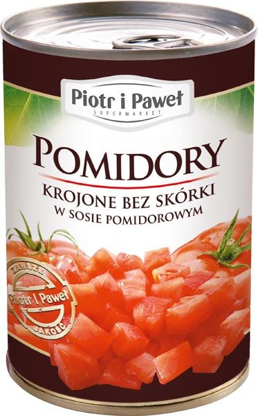 Pomidory Piotr i Paweł krojone bez skórki