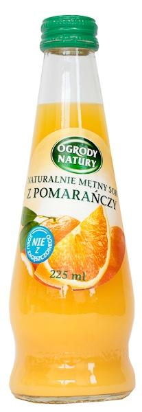 Sok Ogrody Natury z pomarańczy świeży