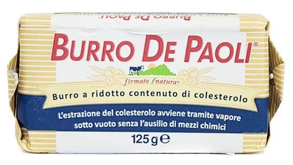 Masło Burro De Paoli o obniżonej zawartości cholesterolu