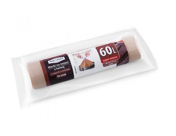 Worki na śmieci z taśmą zapach czekolady 60l