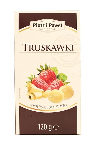 Truskawki w polewie jogurtowej Piotr i Paweł