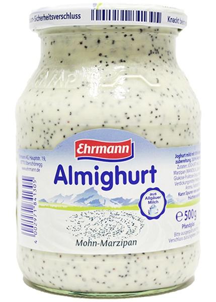Jogurt Ehrmann mak-marcepan