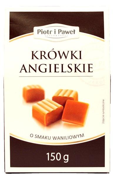Znalezione obrazy dla zapytania Piotr i Paweł Krówki angielskie o smaku waniliowym