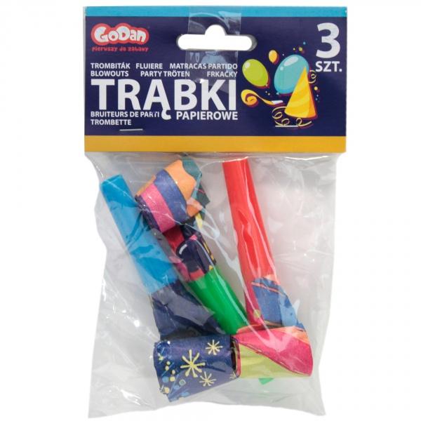 Zestaw - 3 trąbki papierowe/szt