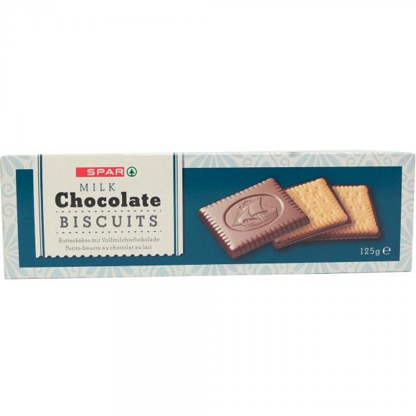Spar ciastka maślne w mlecznej czekoladzie