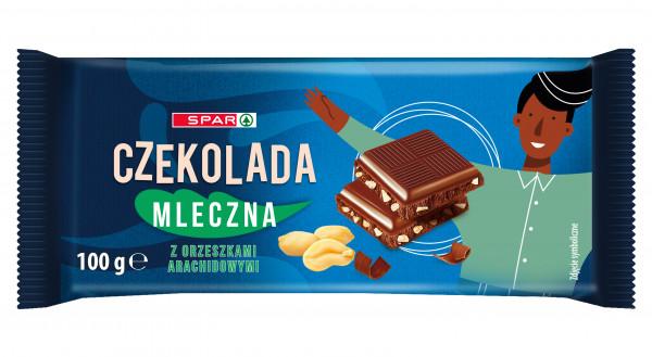 Spar czekolada mleczna z orzeszkami arachidowymi