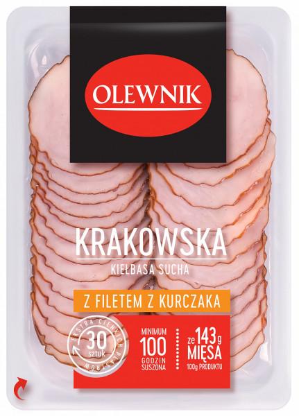 Krakowska kiełbasa sucha z filetem z kurczaka