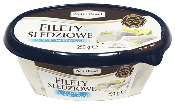 Filety śledziowe w sosie śmietanowym Piotr i Paweł