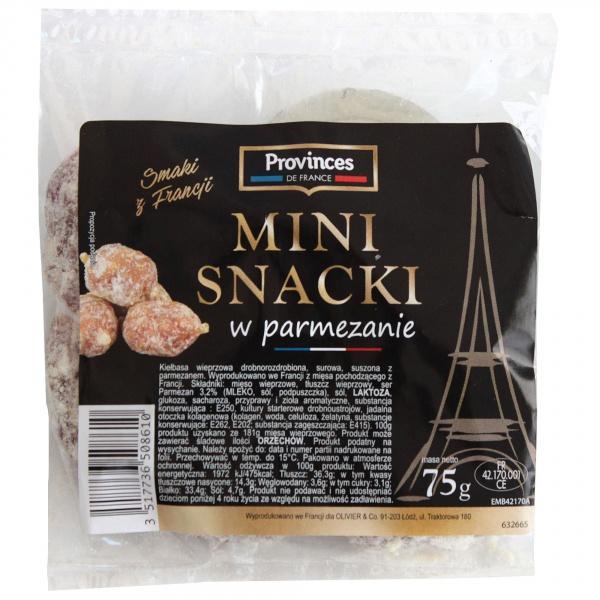 Mini snacki z parmezanem