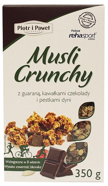 Musli Crunchy z guaraną, czekoladą i pestkami dyni