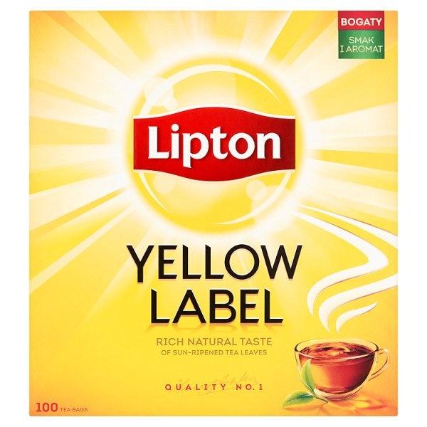 Herbata lipton yellow label 100*1,5g