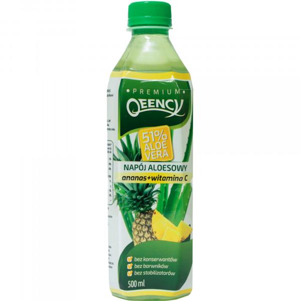 Napój qeency aloesowy aloe vera 51% z ananasem