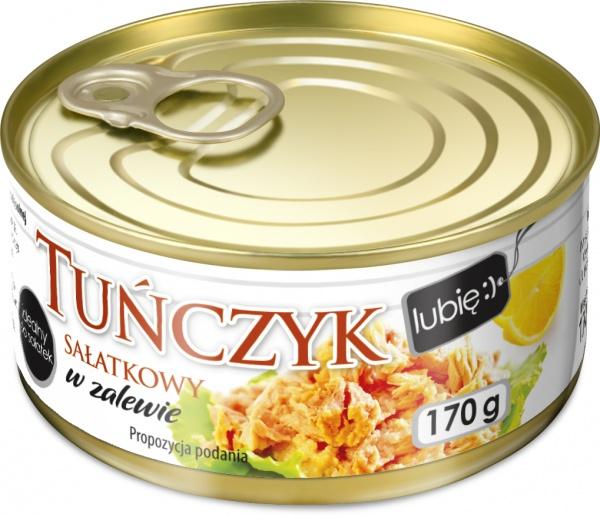 Tuńczyk rozdrobniony w zalewie - lubię:)
