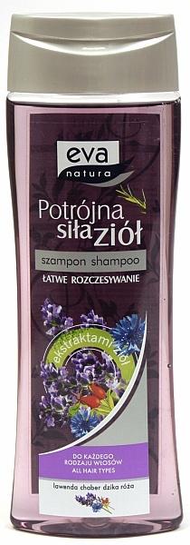 Eva natura potrójna siła ziół szampon lawenda