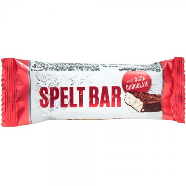 Baton orkiszowy Spelt Bar oblany gorzką czekoladą