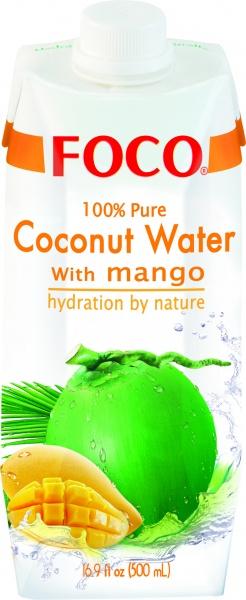 Woda kokosowa Foco z mango