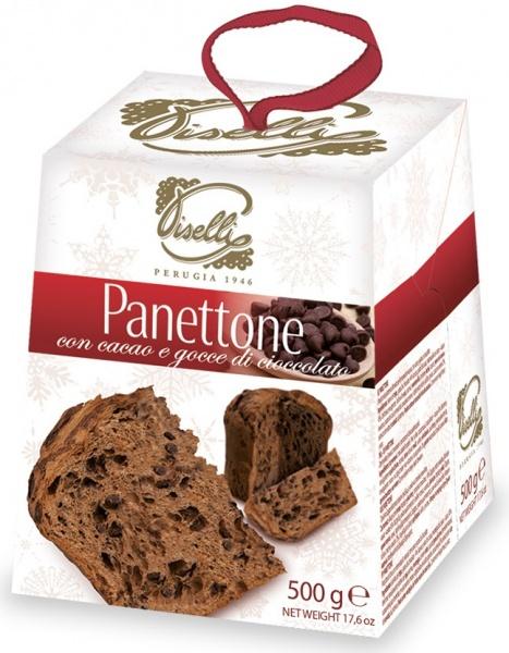 Babka kakaowa z kawałkami czekolady panettone