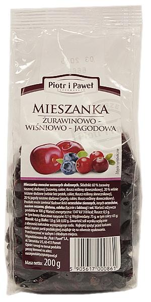 Piotr i Paweł - mieszanka żurawinowo-wiśniowo-jagodowa