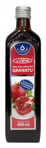 Sok z owoców granatu 100% Oleofarm