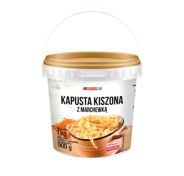 Spar kapusta kiszona z marchewką wiaderko 1kg
